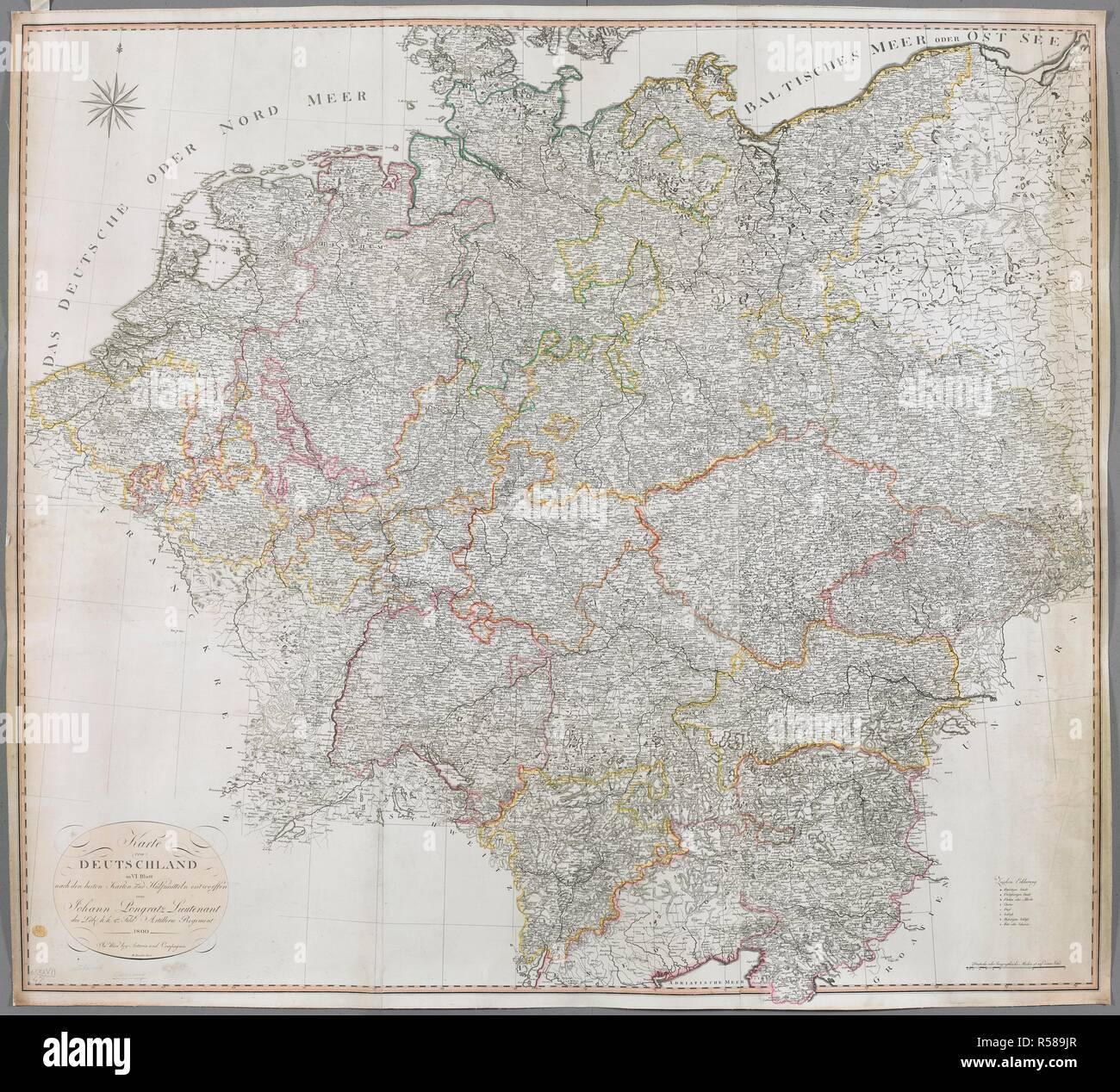 A map of Germany. Karte von DEUTSCHLAND in VI Blatt. In Wien ...