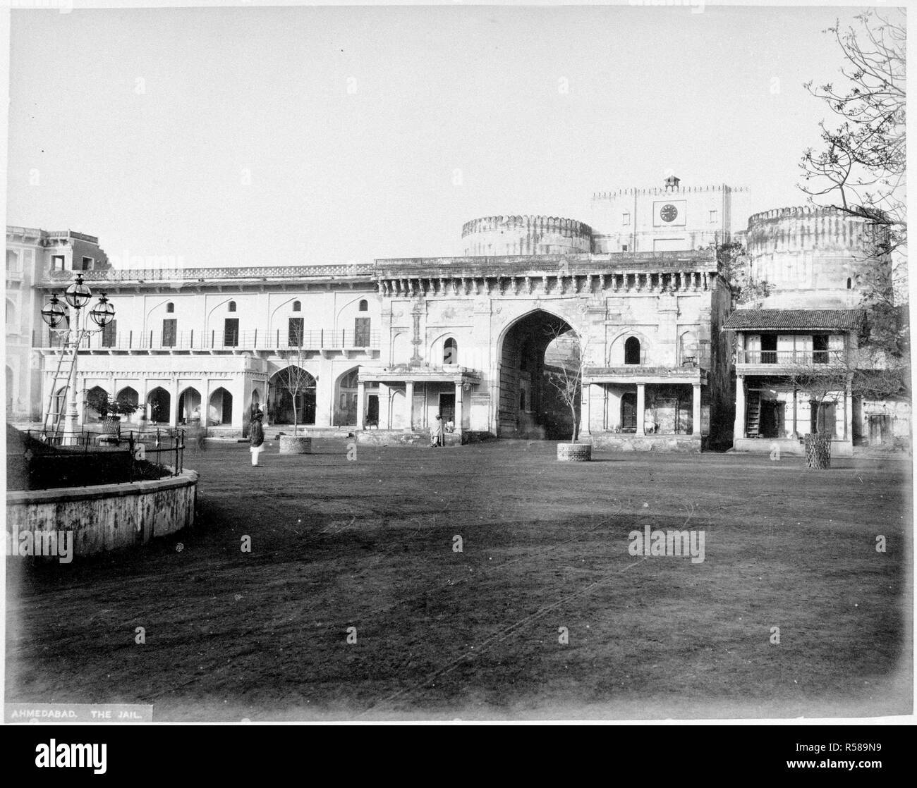 Ahmedabad Jail. Album of views in India and the Middle East. 1870s. Source: Photo 406/1/(26). Author: ANON. - Stock Image