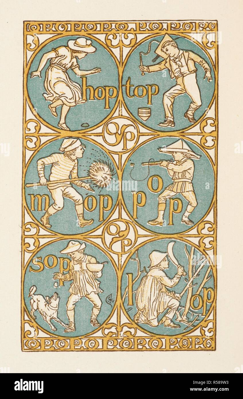 Rhyming words ending in the letter P. The Golden primer. The Golden Primer. [In verse. With illustrations by Walter Crane.]. 2 pt. Blackwood & Sons: London ...