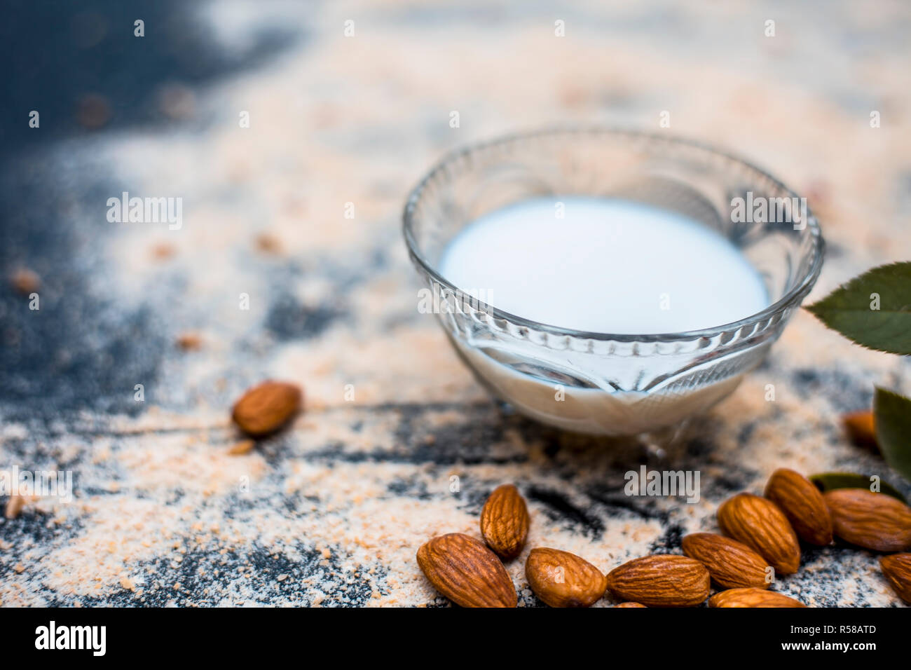 Almond and oat facial