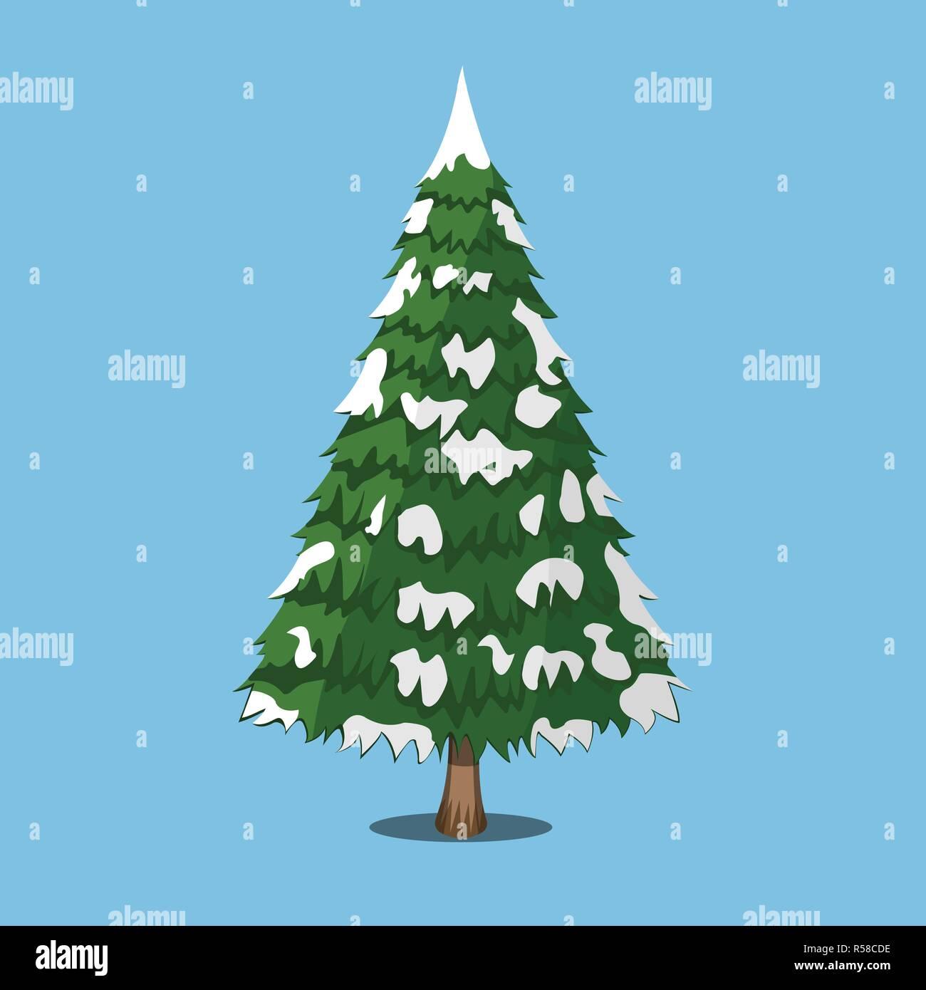 Christmas Tree Xmas Icon Cartoon Style Vector Illustration For Christmas Day Stock Vector Image Art Alamy Plant tree, bush and green tree, forest tree illustration. alamy