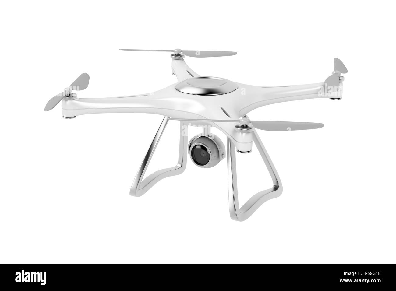 Unmanned aerial vehicle (drone) - Stock Image