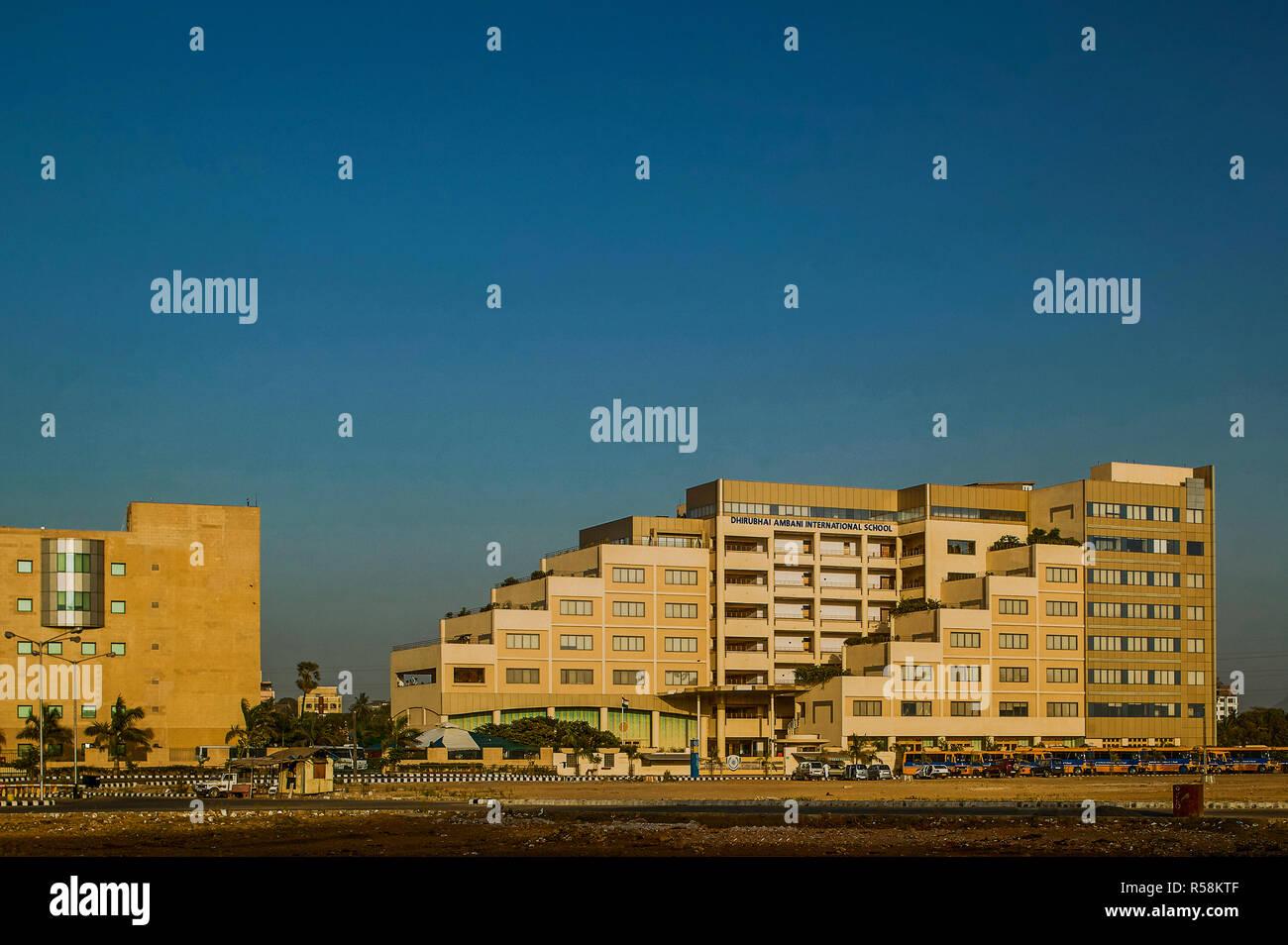 21 Apr 2004 Dhiru Bhai Ambani School Bandra Kurla Complex , Bombay Mumbai , Maharashtra , India asia - Stock Image