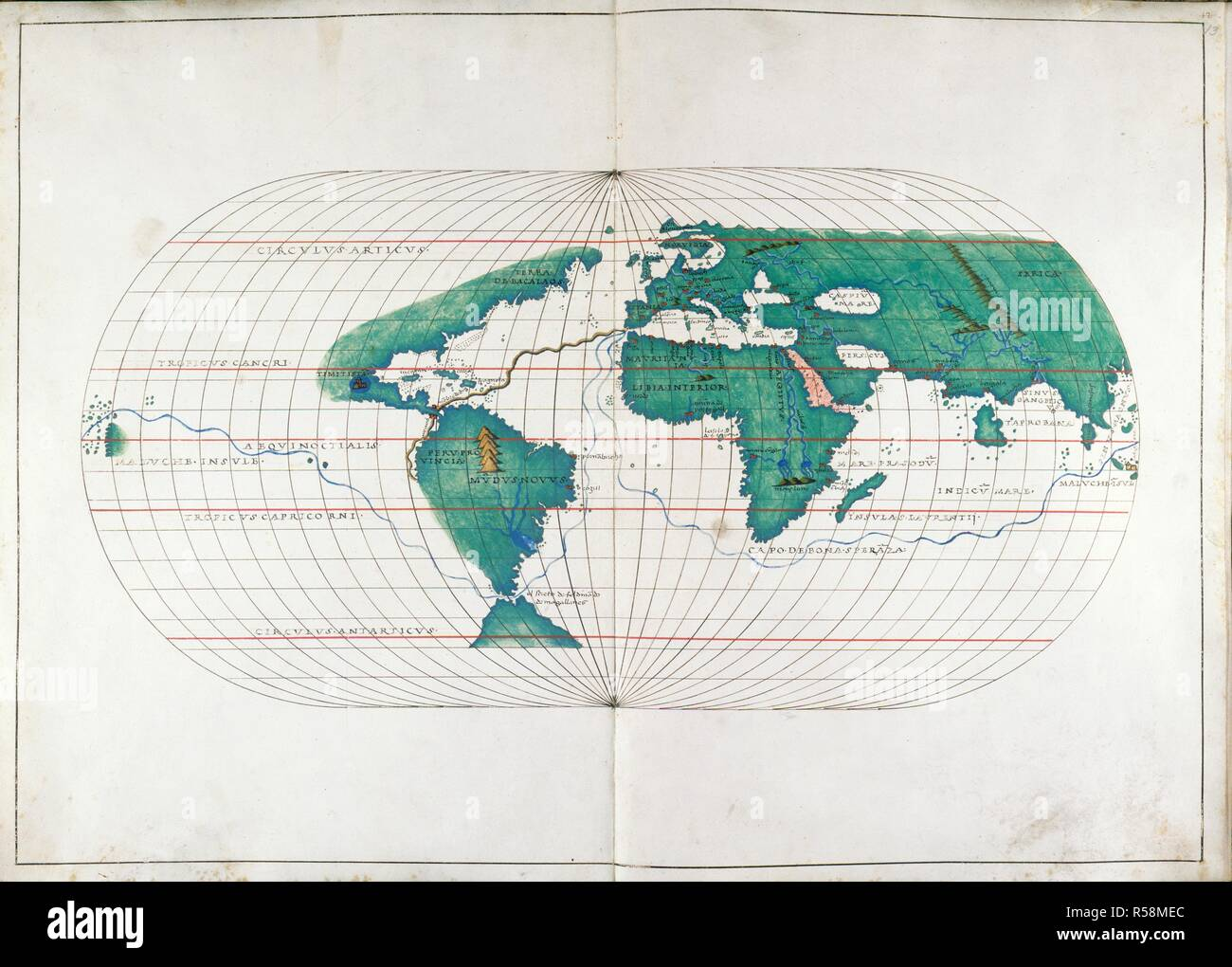 Whole Map Of The World.World Map Portolan Atlas Italy Venice 1536 Whole Map Map Of
