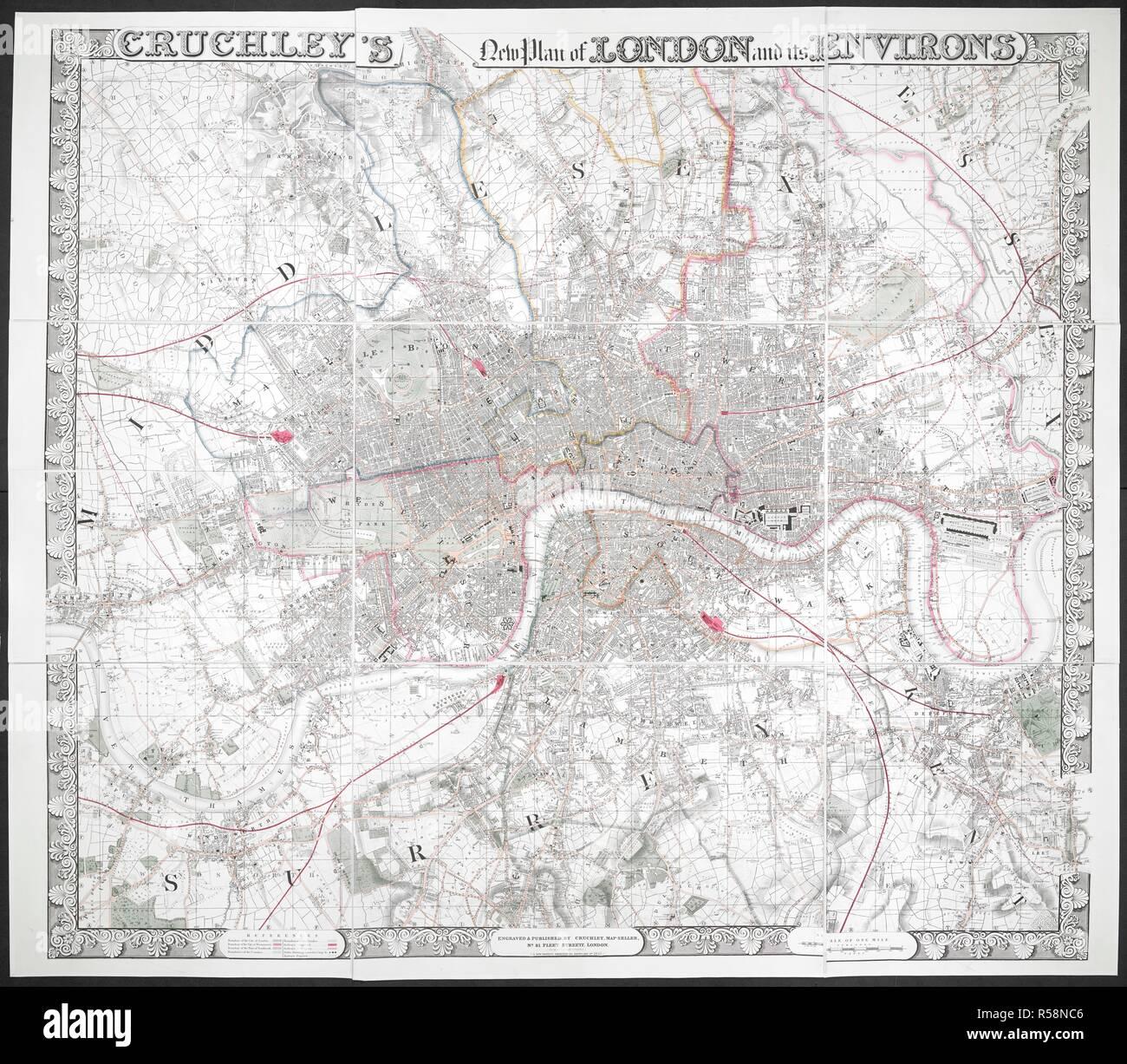 Map Of London Boroughs Stock Photos & Map Of London Boroughs