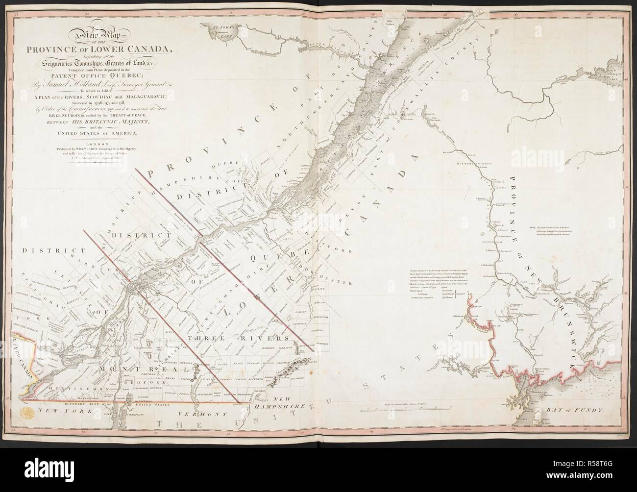 Map Of Canada To Colour.A New Map Of The Province Of Lower Canada A New Map Of The Province