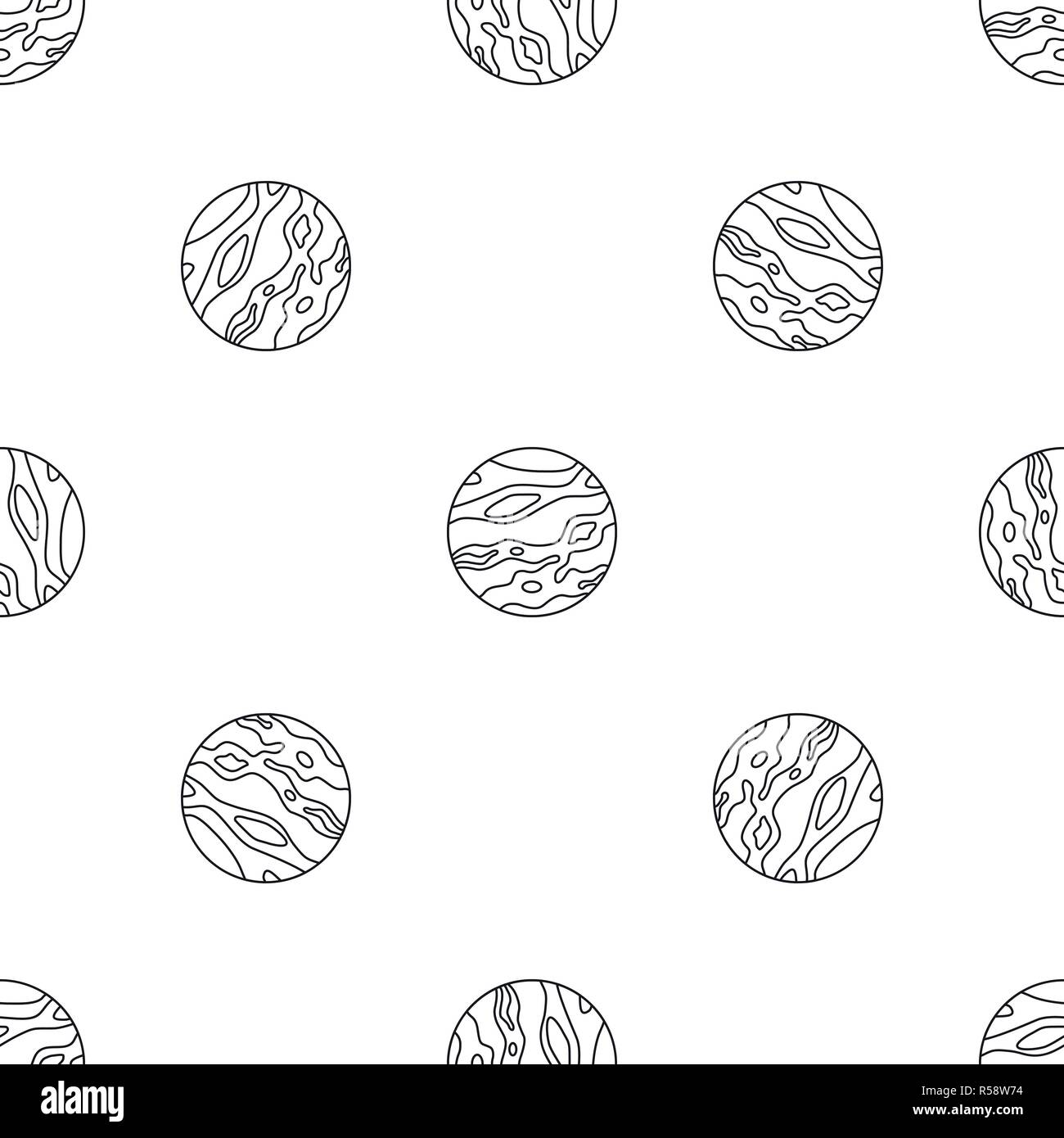 Venus planet pattern seamless vector repeat geometric for any web design - Stock Image