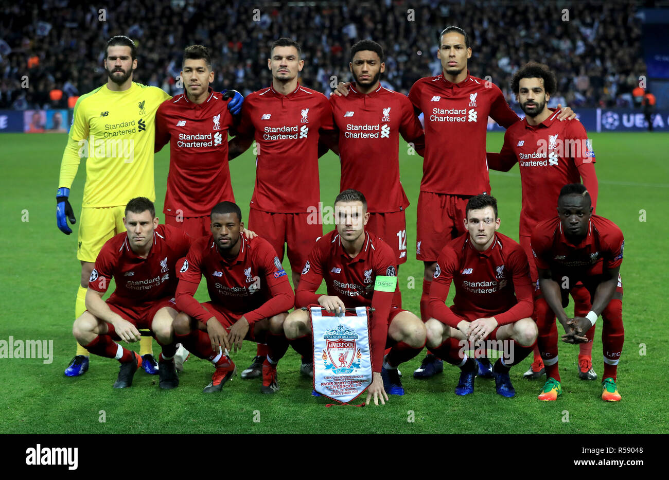 Liverpool's (back Left To Right) Alisson Becker, Roberto
