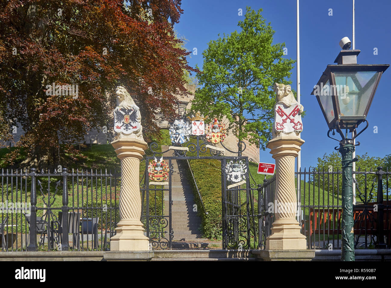 Entrance to the castle of Leiden, South Holland, Netherlands Stock Photo