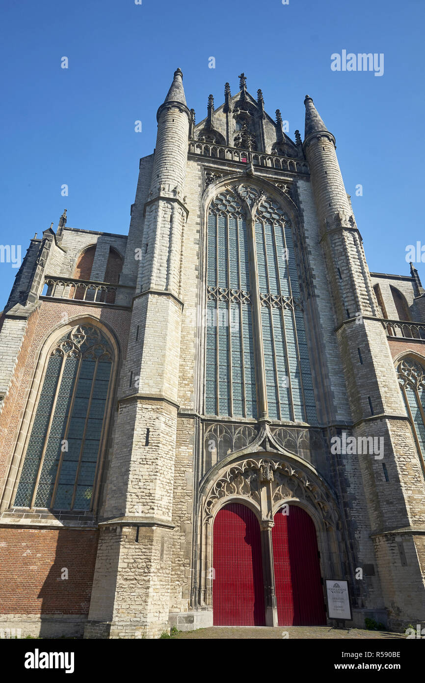 Facade of the Hooglandse Kerk, Leiden, Benelux, Benelux states, South Holland, Netherlands Stock Photo