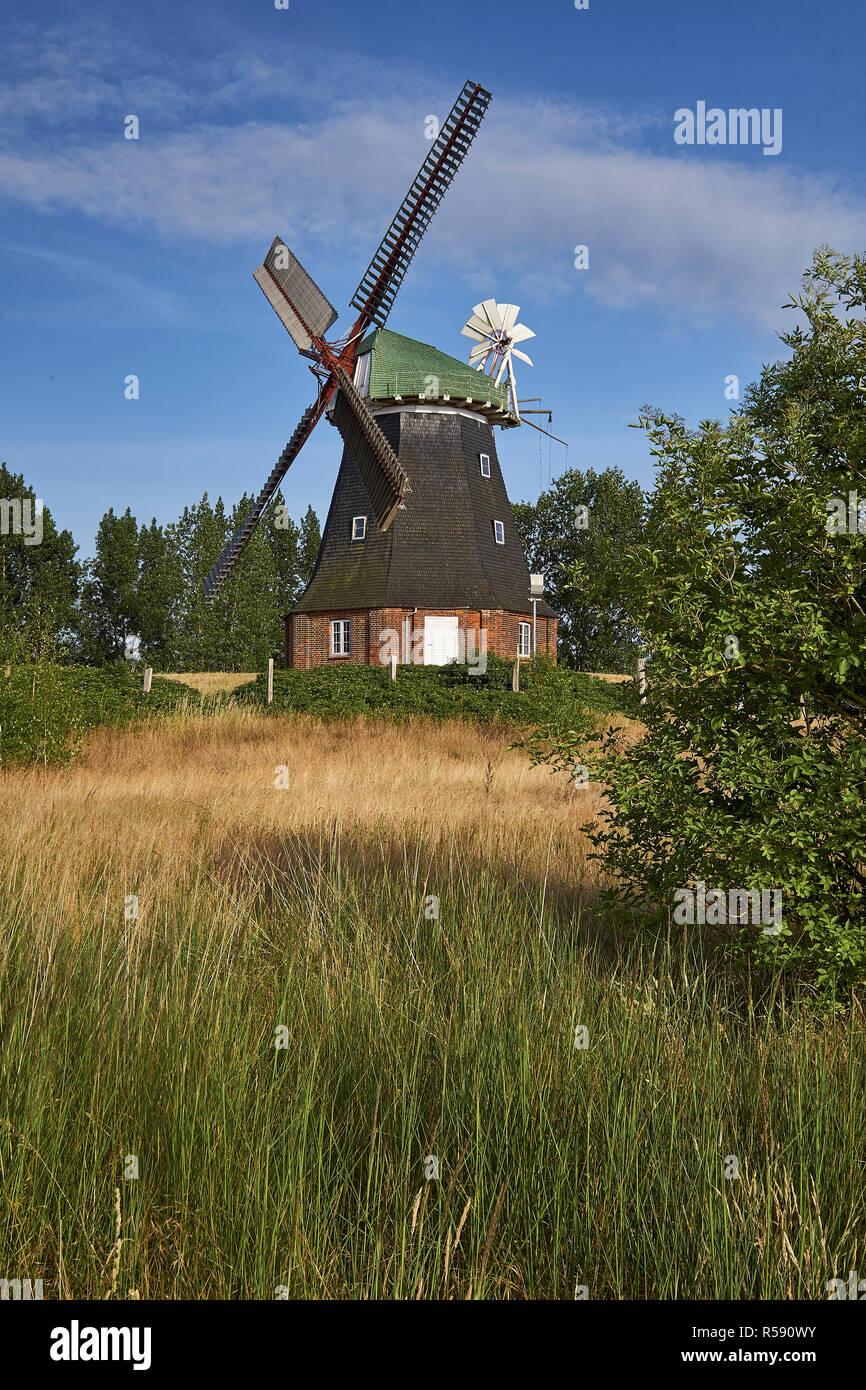Windmill Stove, Nordwestmecklenburg district, Mecklenburg-Vorpommern, Germany - Stock Image