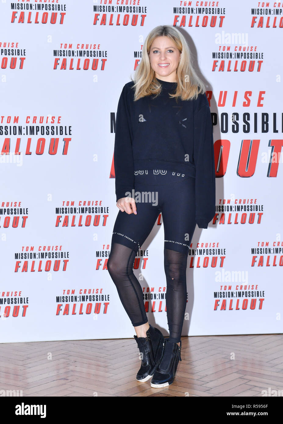 London, UK. 30th November, 2018. Olivia Cox at Launches New Experience Called: MISSION: IMPOSSIBLE – FALLOUT – THE LONG JUMP during Celebrate The Blu-Ray And DVD Release Of Mission: Impossible – Fallout at Lindley Hall on Friday, 30 November 2018. LONDON, ENGLAND. (Editorial use only, license required for commercial use. No use in betting, games or a single club/league/player publications.) Credit: Taka G Wu/Alamy News - Stock Image
