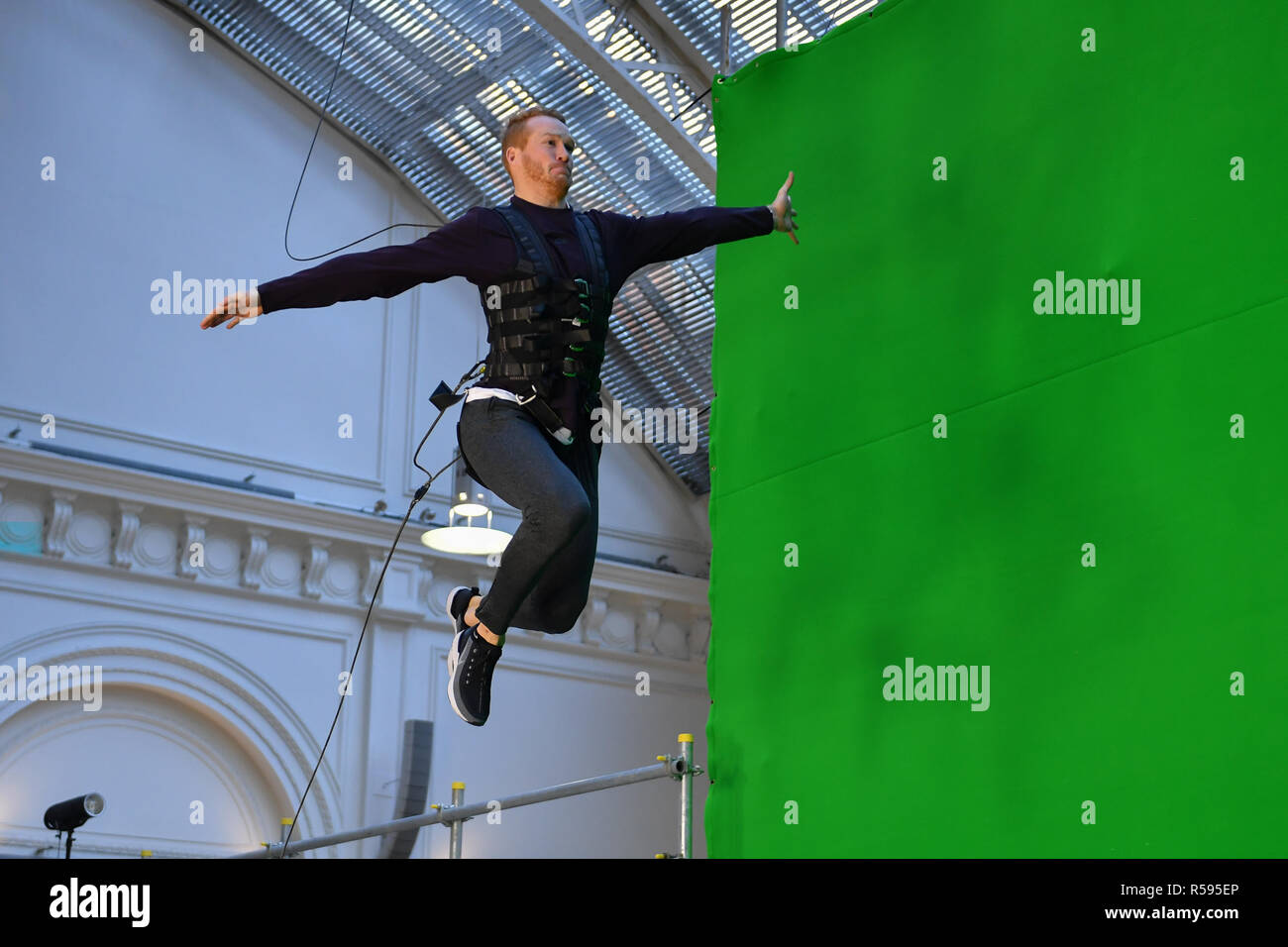 London, UK. 30th November, 2018. Greg Rutherford Launches New Experience Called: MISSION: IMPOSSIBLE – FALLOUT – THE LONG JUMP during Celebrate The Blu-Ray And DVD Release Of Mission: Impossible – Fallout at Lindley Hall on Friday, 30 November 2018. LONDON, ENGLAND. (Editorial use only, license required for commercial use. No use in betting, games or a single club/league/player publications.) Credit: Taka G Wu/Alamy News - Stock Image