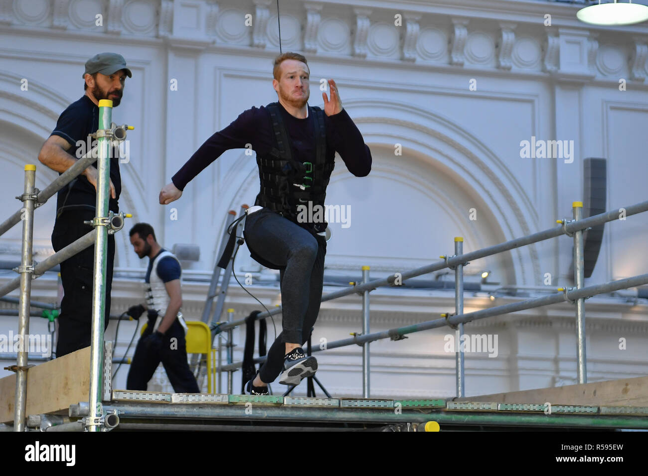 London, UK. 30th November, 2018. Greg Rutherford Launches New Experience Called: MISSION: IMPOSSIBLE – FALLOUT – THE LONG JUMP during Celebrate The Blu-Ray And DVD Release Of Mission: Impossible – Fallout at Lindley Hall on Friday, 30 November 2018. LONDON, ENGLAND. (Editorial use only, license required for commercial use. No use in betting, games or a single club/league/player publications.) Credit: Taka G Wu/Alamy News Stock Photo
