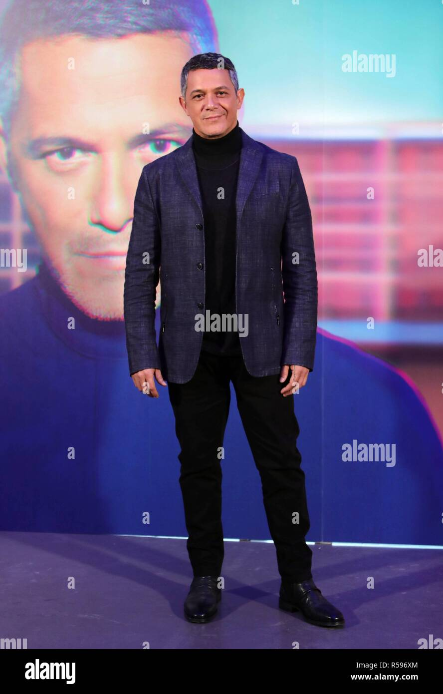 "Singer Alejandro Sanz during presentation of his single "" No tengo Nada "" in Madrid on Friday , 30 November 2018 Stock Photo"