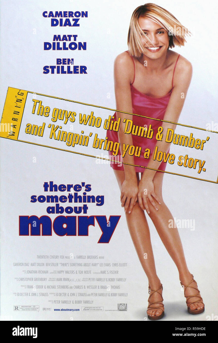 There's Something about Mary - Original Movie Poster - Stock Image