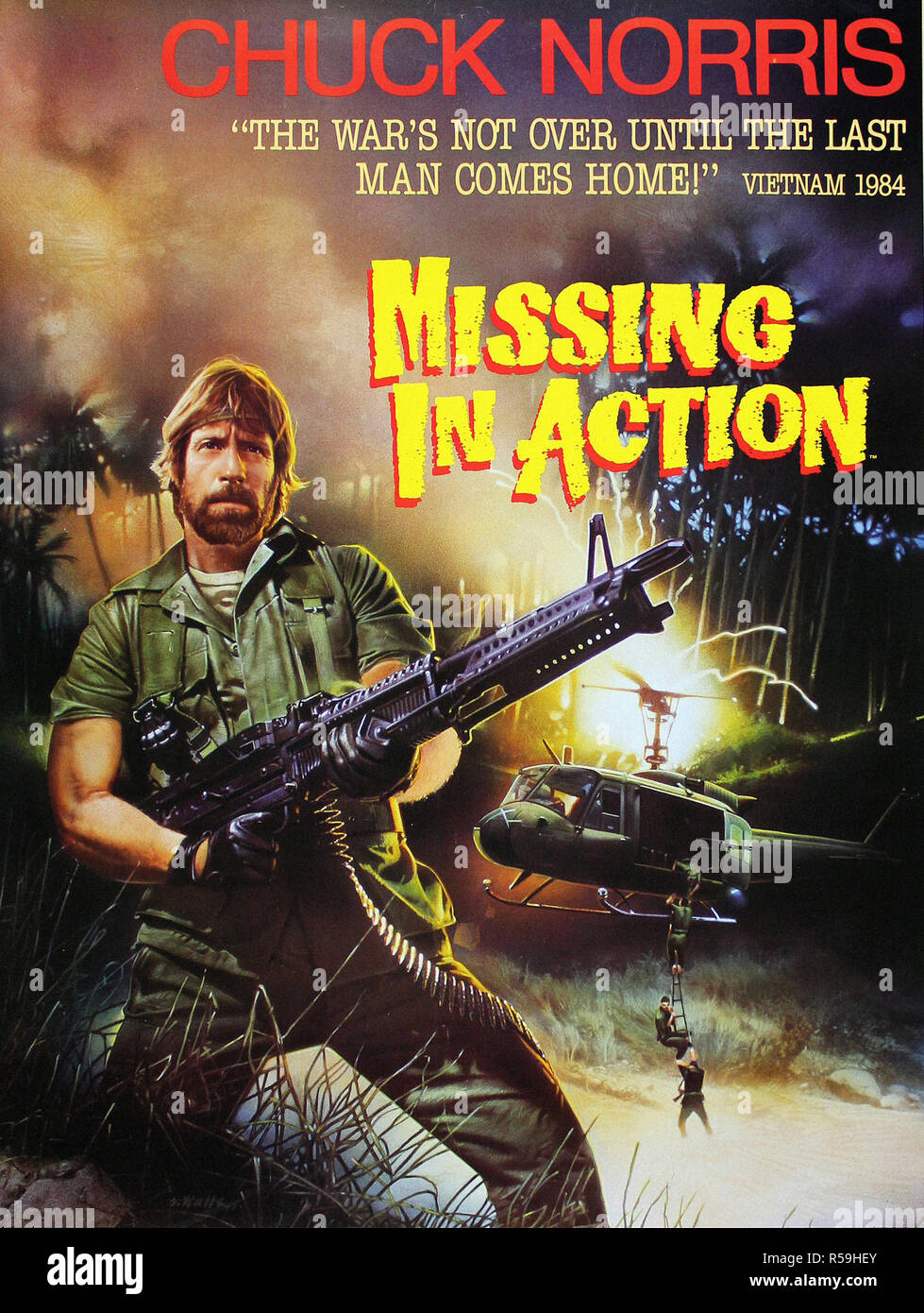 Missing in Action - Original Movie Poster Stock Photo