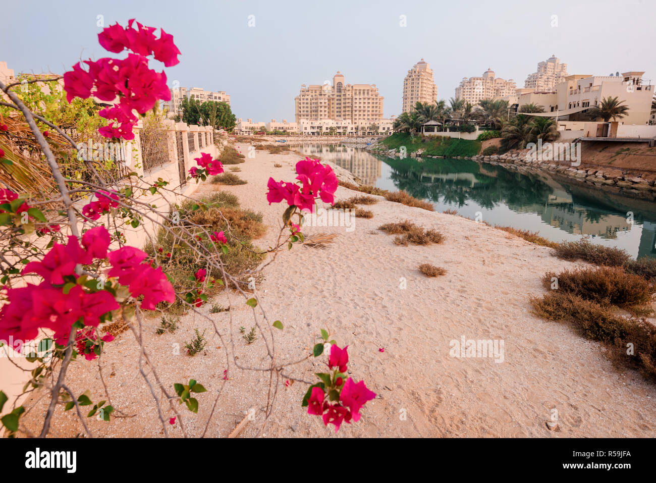 Al Hamra Village at Sunrise - Stock Image