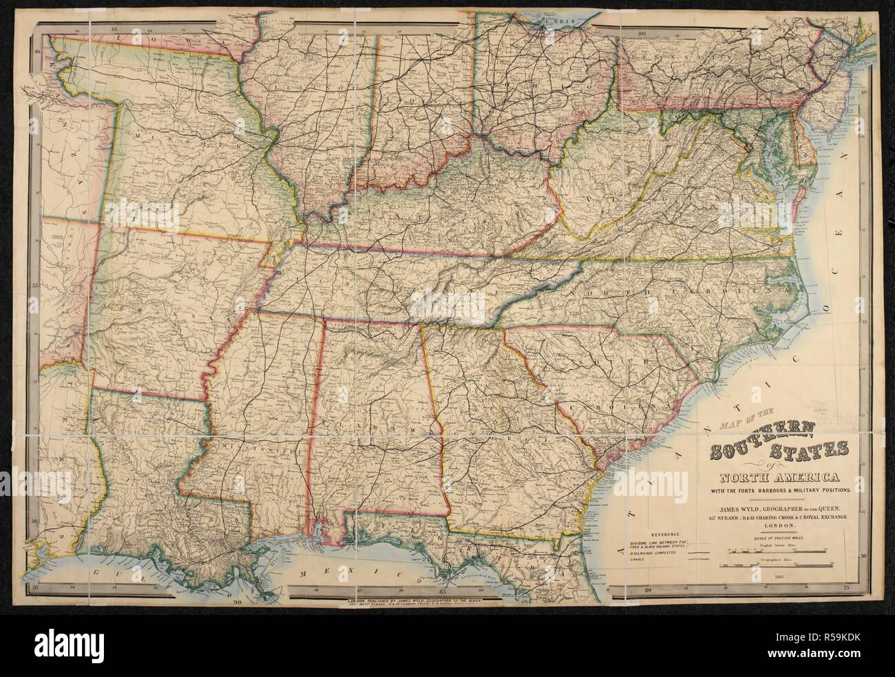 A map of the Southern States of North America. Map of the Southern ...