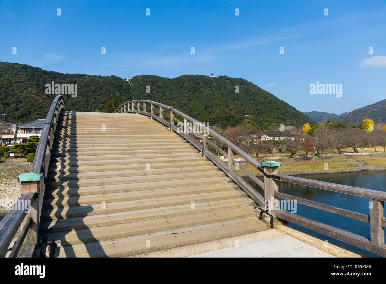 Kintaikyo Bridge in Iwakuni Stock Photo