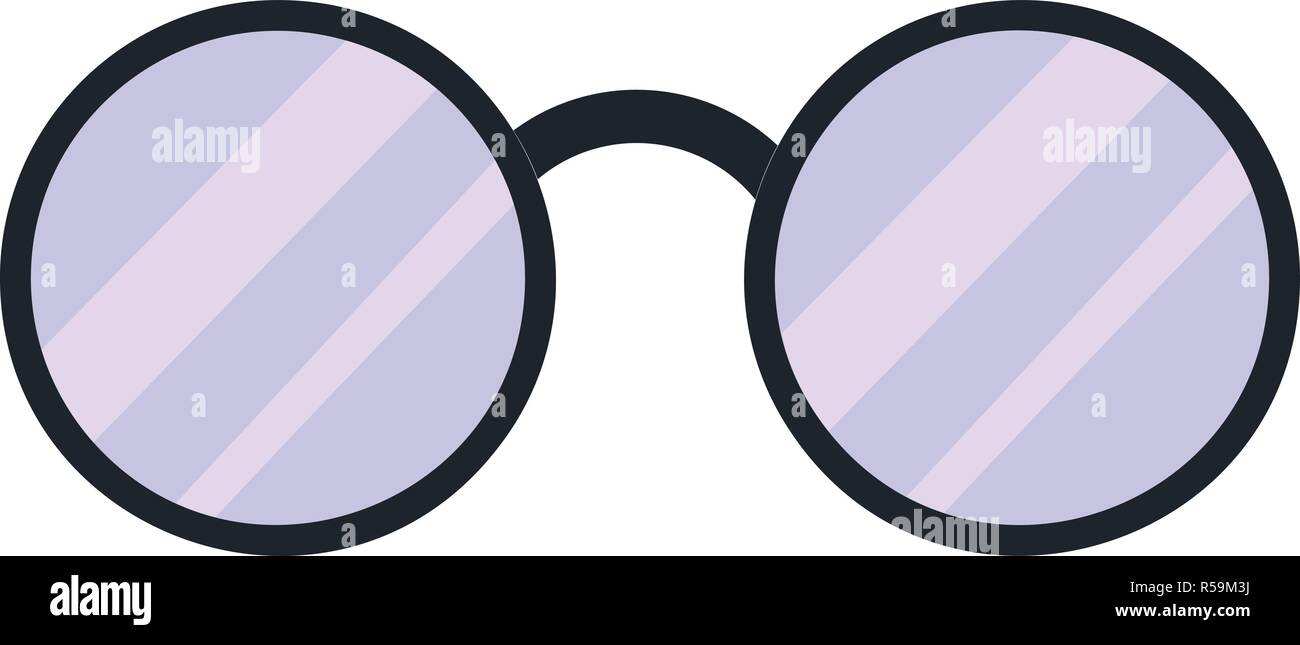 092a257841387 Round glasses icon. Cartoon of round glasses vector icon for web design  isolated on white