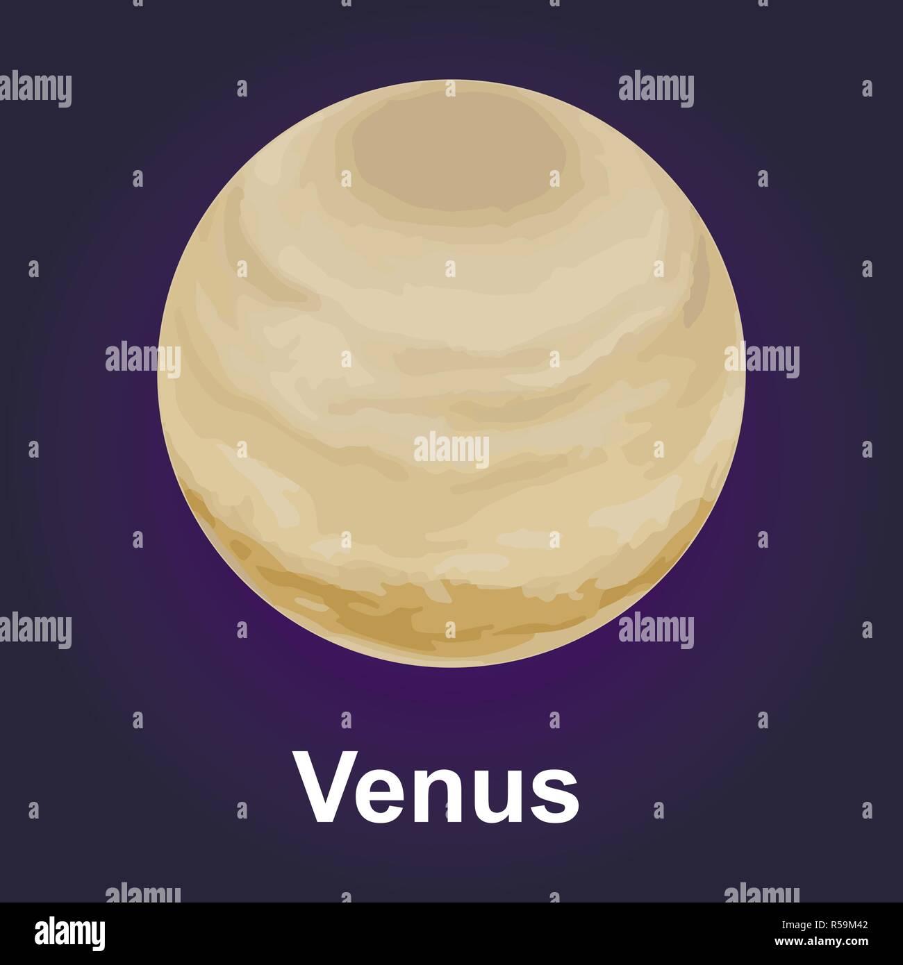 Venus planet icon. Isometric of venus planet vector icon for web design - Stock Image