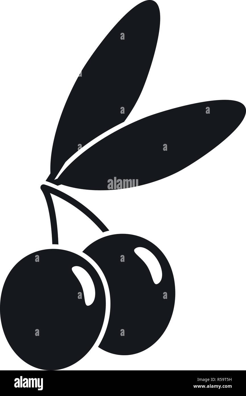 Jewish olive icon. Simple illustration of jewish olive vector icon for web design isolated on white background - Stock Image