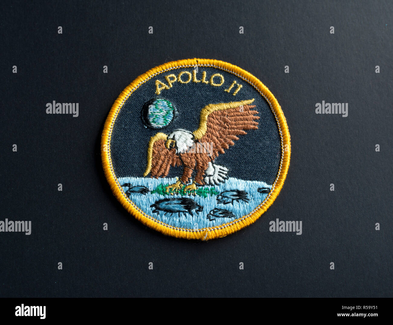 Apollo 11 Nasa Moon Landing Space Mission Patch Eagle Aufnäher .
