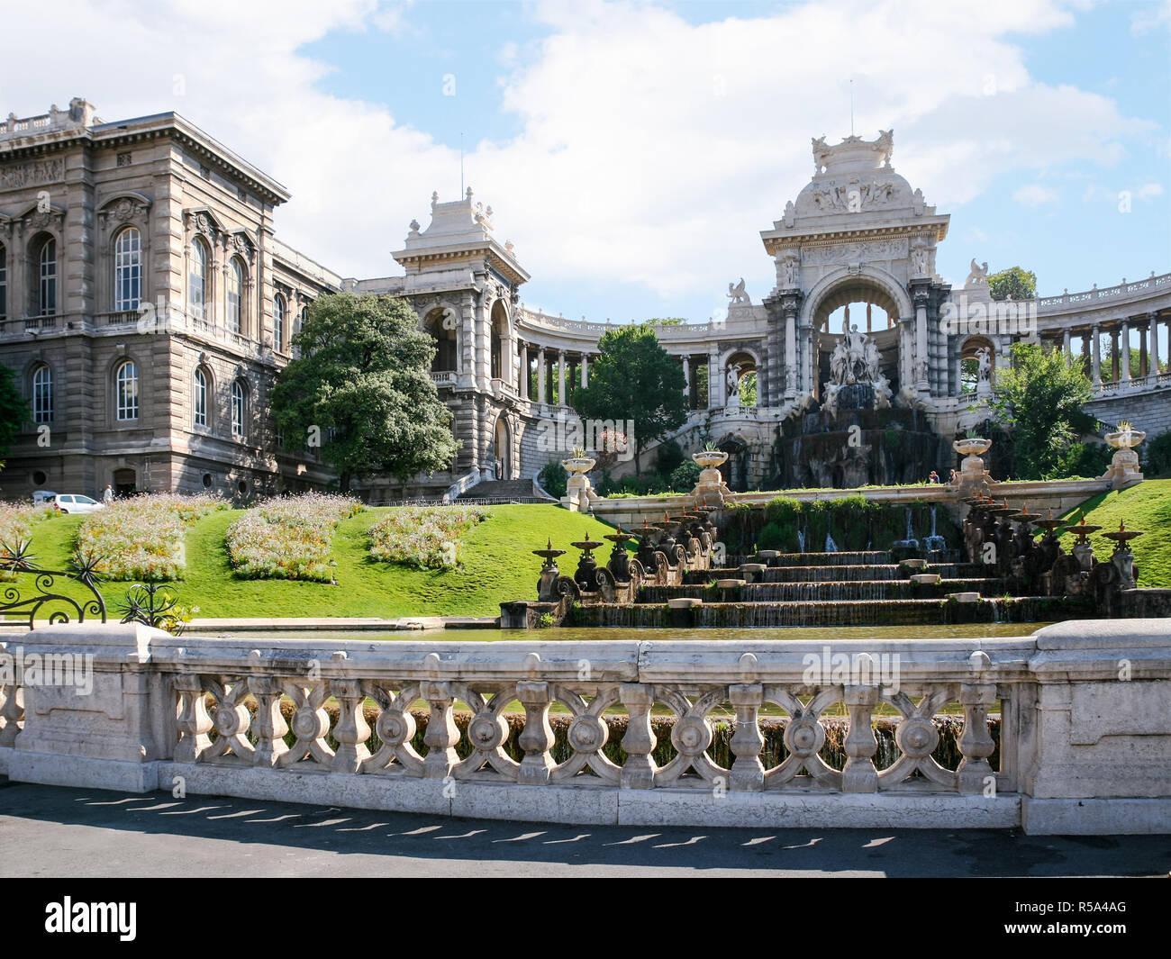 outside view of Palais (Palace) Longchamp - Stock Image