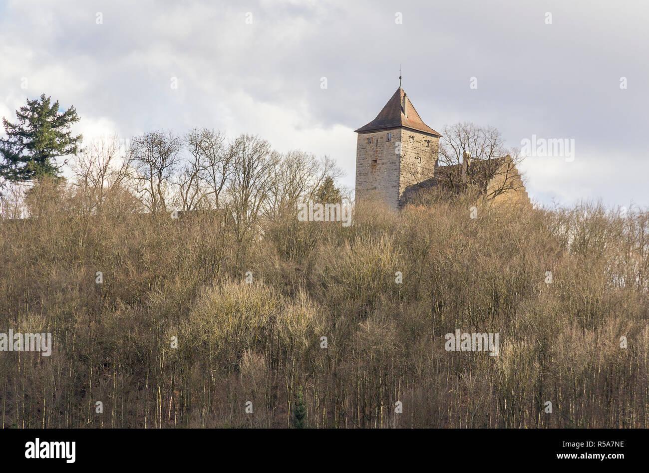 morstein castle in hohenlohe - Stock Image