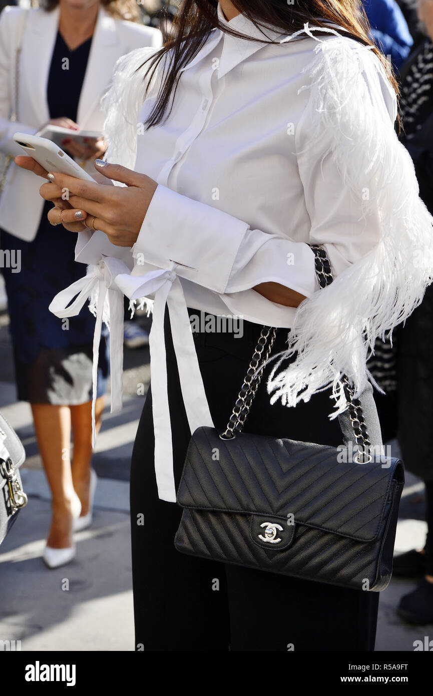 31aa8b6c06ee Chanel Bag - Paris Fashion Week RTW SS 2019 - Paris - France - Stock Image