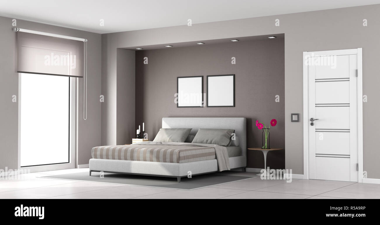 Minimalist Master Bedroom Stock Photo 227035306 Alamy