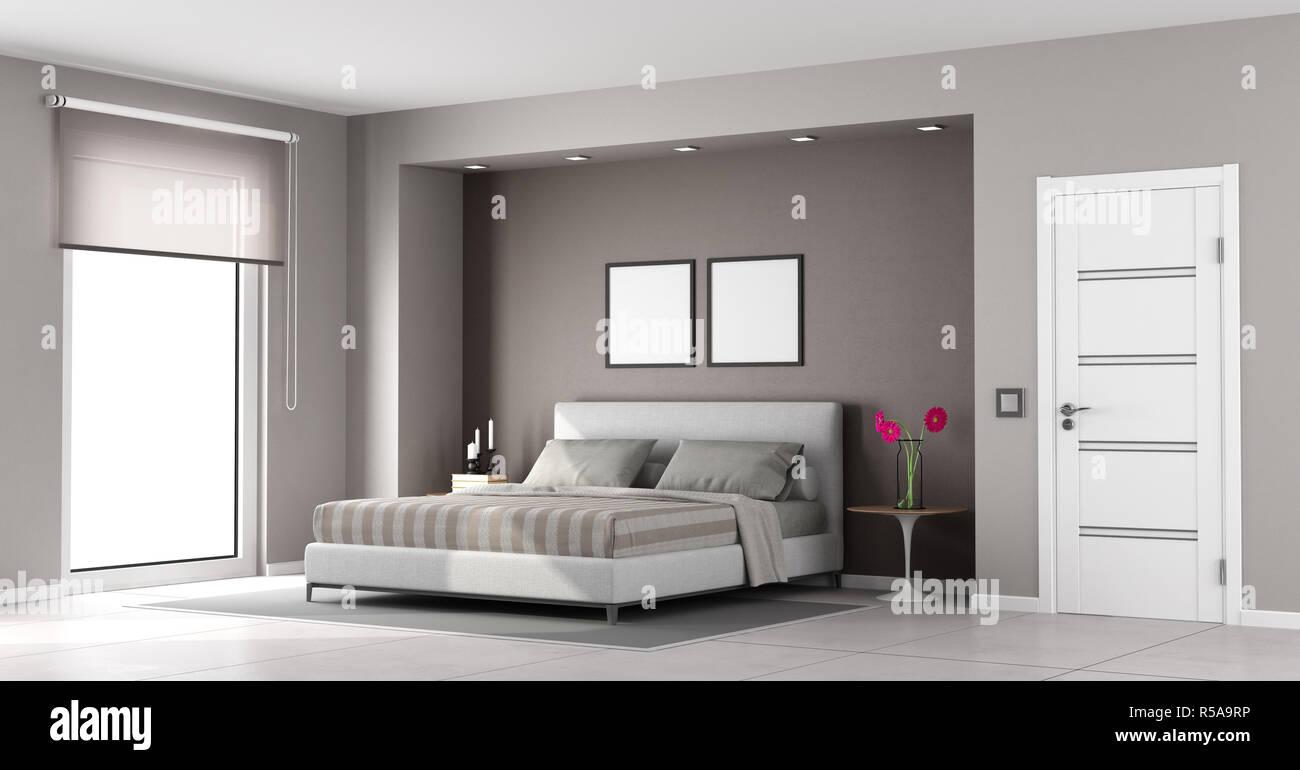 Minimalist master bedroom Stock Photo: 227035306 - Alamy