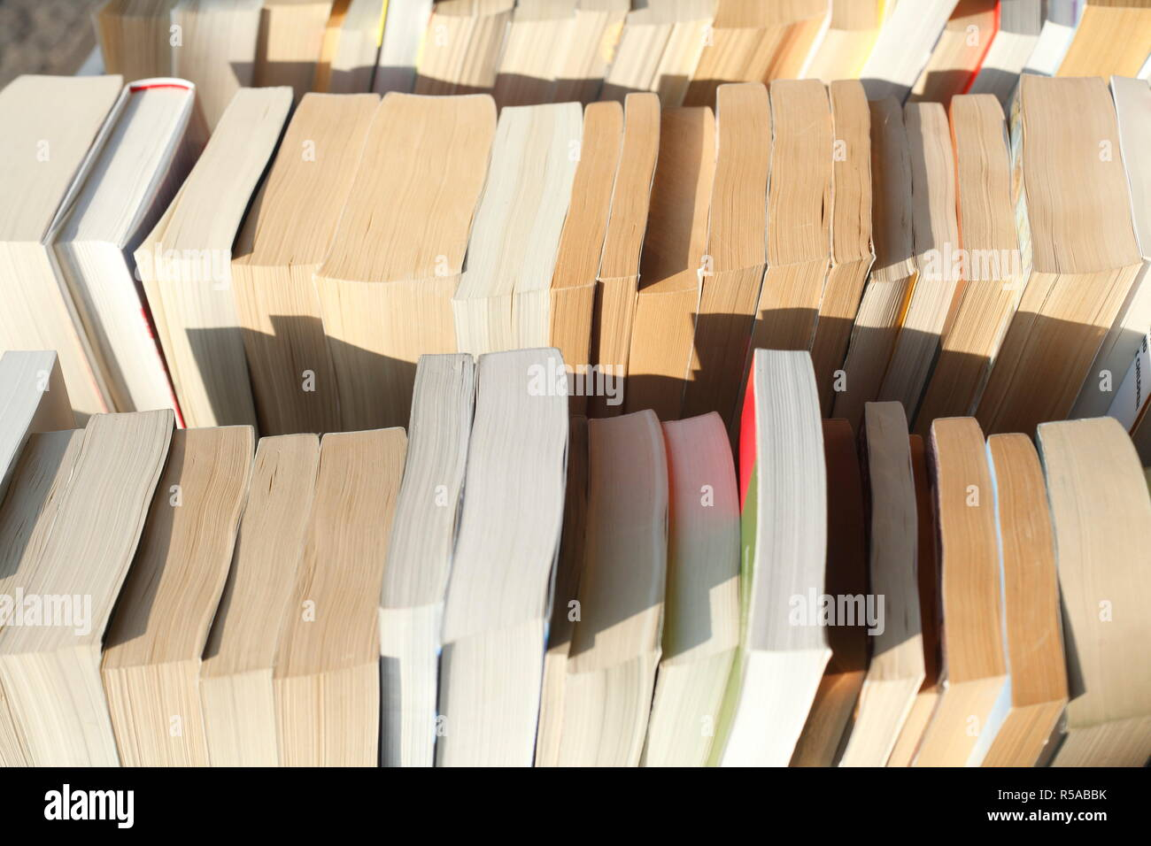 old,used paperbacks - Stock Image