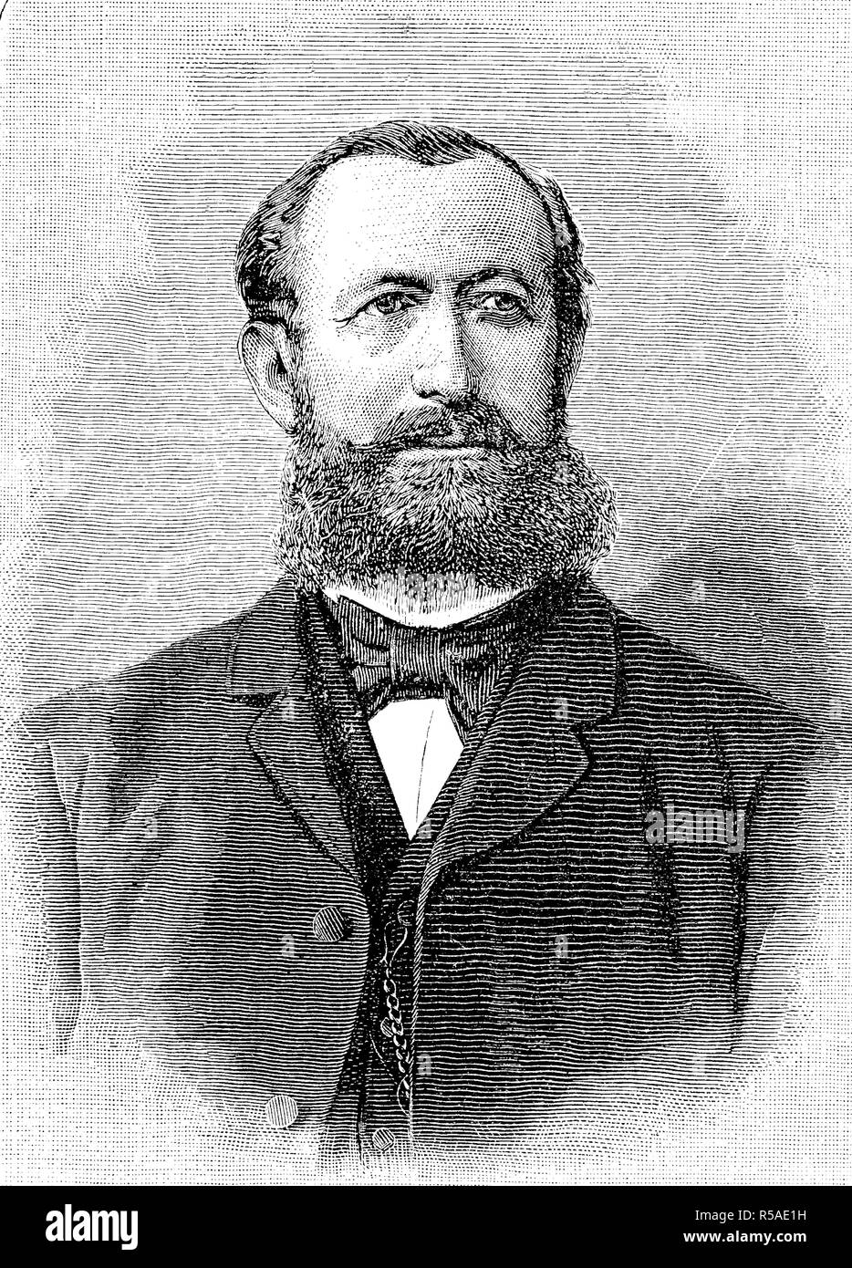 Hermann Senator, December 6, 1834, July 14, 1911, was a German internist who was a native of Gnesen in the Prussian Province of Stock Photo