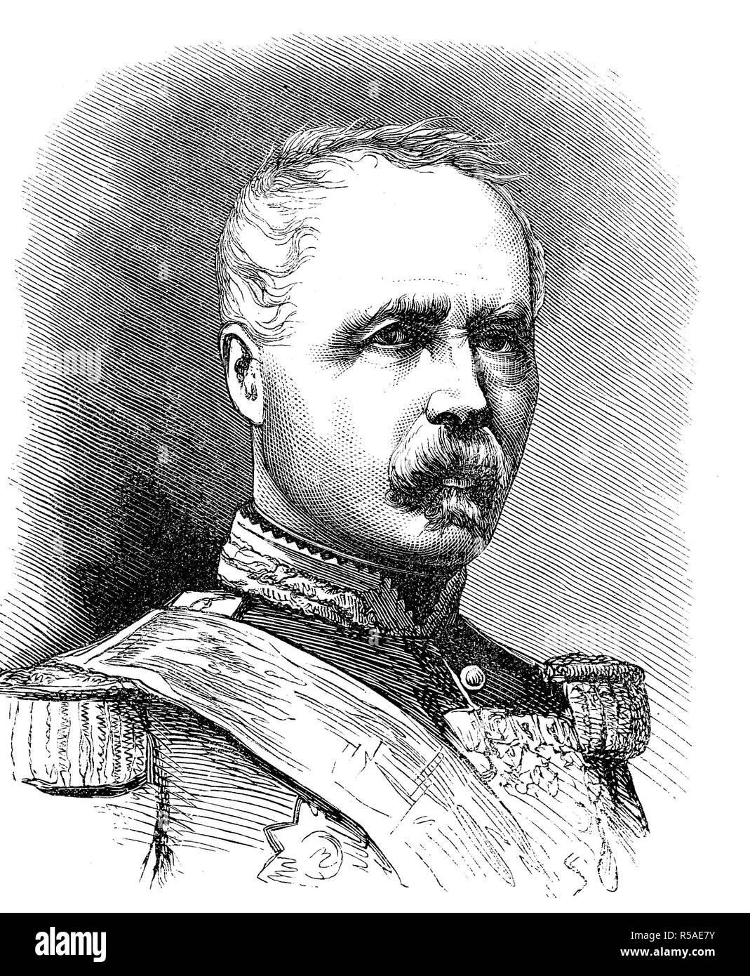 The President-Marshal Marie Esme Patrice Maurice, Count de Mac Mahon, The Duke of Magenta, 13 June 1808, 17 October 1893 - Stock Image