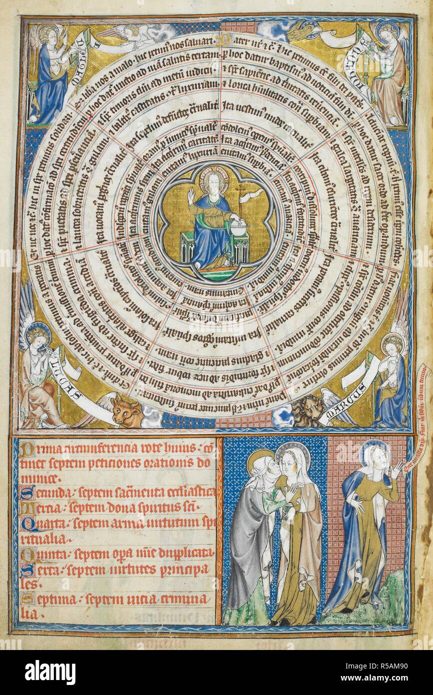 Wheel of Sevens  Psalter of Robert de Lisle  England [London