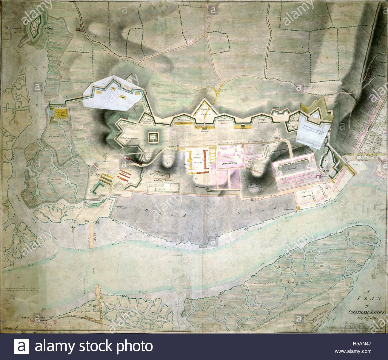 Chatham England Map.Plan Of Chatham Lines England 1804 Wholw Plan Plan Of Chatham