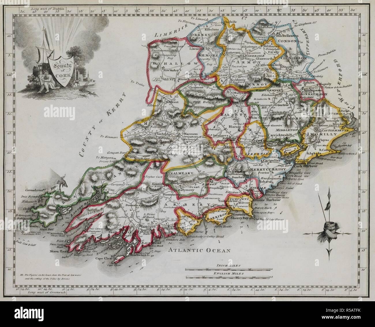 Map Of Ireland 32.32 County Ireland Stock Photos 32 County Ireland Stock Images Alamy