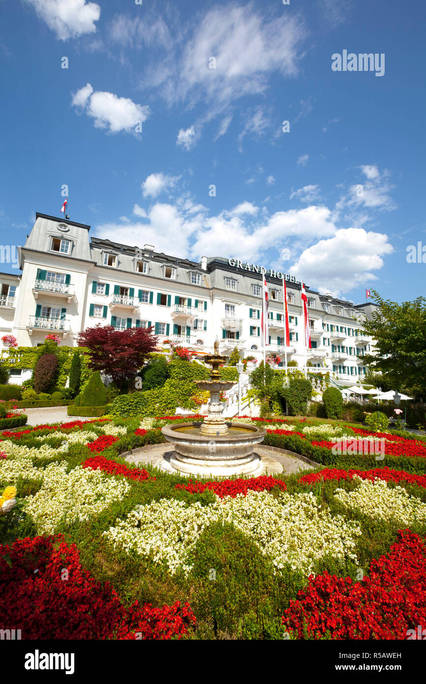 Grand Hotel on Lake Zell am See, Pinzgau, Salzkammergut, Austria Stock Photo