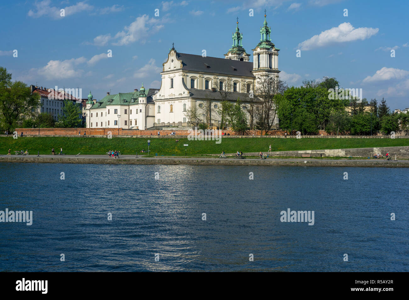 Church of St Michael the Archangel and St Stanislaus Bishop and Martyr and Pauline Fathers Monastery, Skałka, Kraków, Poland - Stock Image