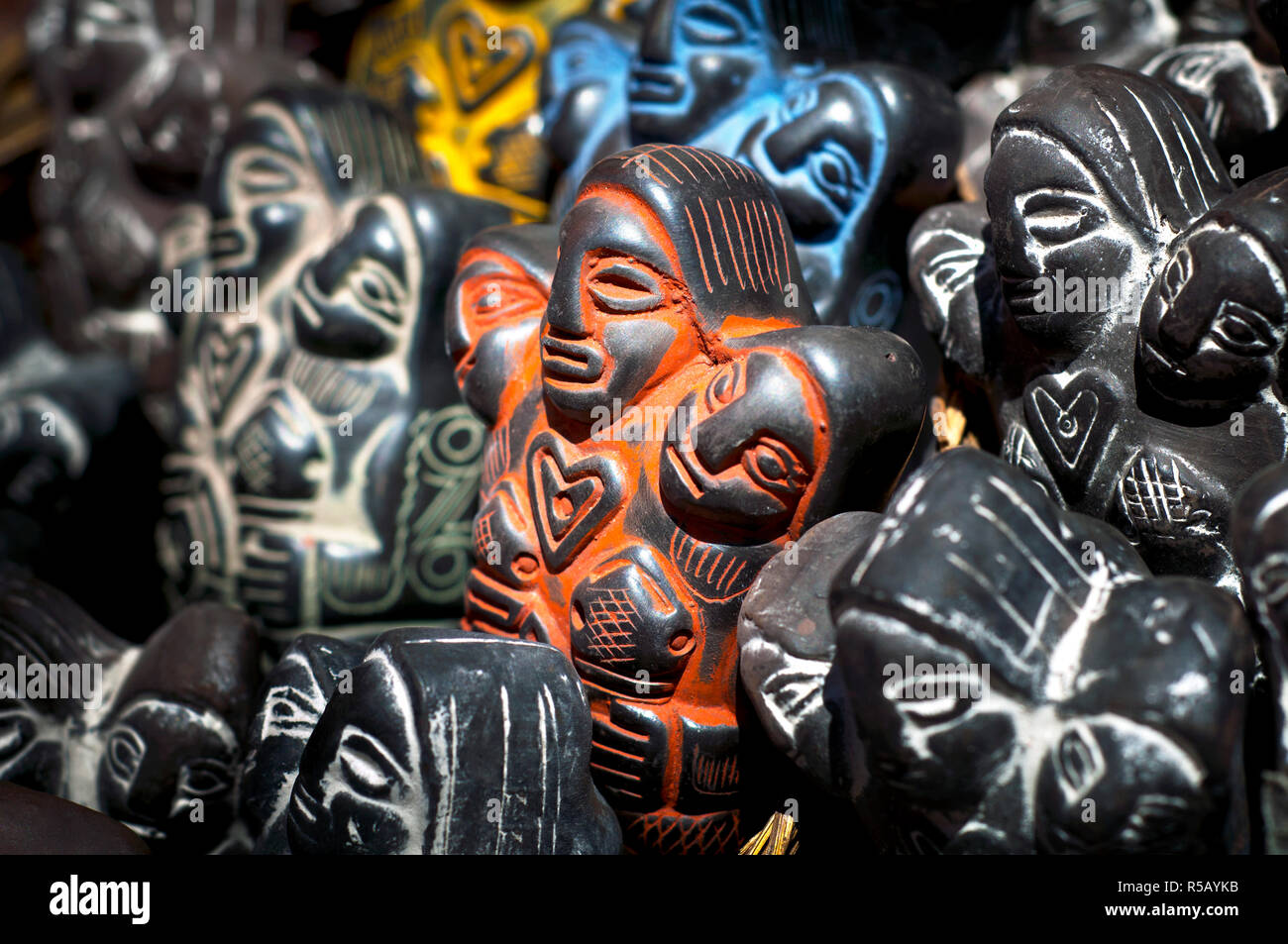 Witches' Market, Mercado de las Brujas, Pachamama Statues For Sale, Mother Earth Goddess Of The Indigenous Aymarans, La Paz, Bolivia - Stock Image