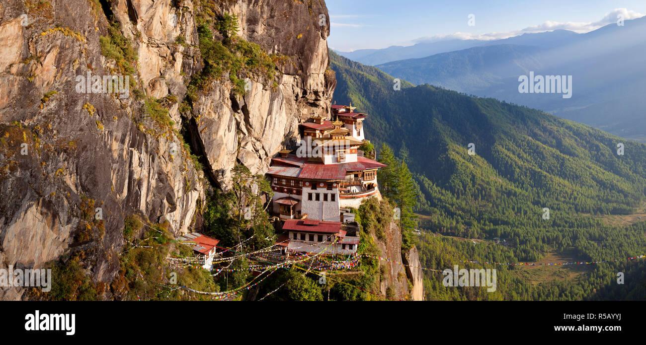 Tigers Nest (Taktsang Goemba), Paro Valley, Bhutan Stock Photo