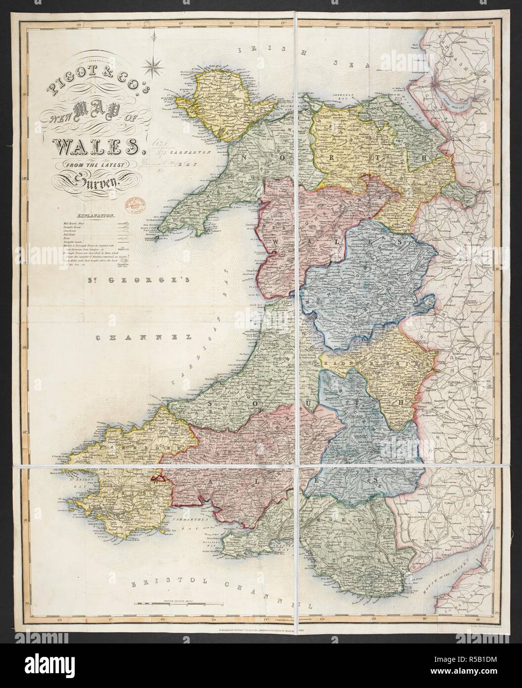 A Map Of Wales Pigot Co S New Map Of Wales London And