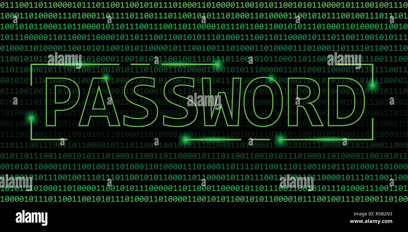 password security concept binary code web background vector illustration EPS10 - Stock Image