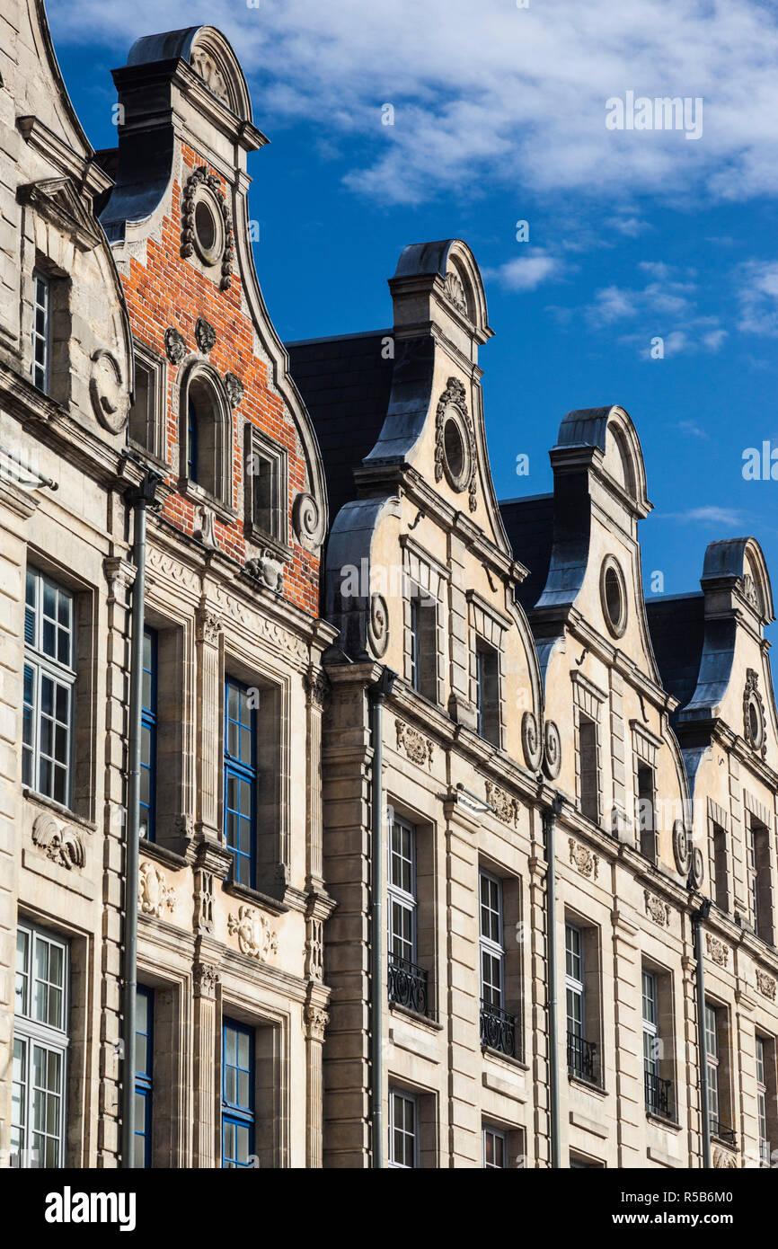 France, Nord-Pas de Calais Region, Arras, Grand Place buildings - Stock Image
