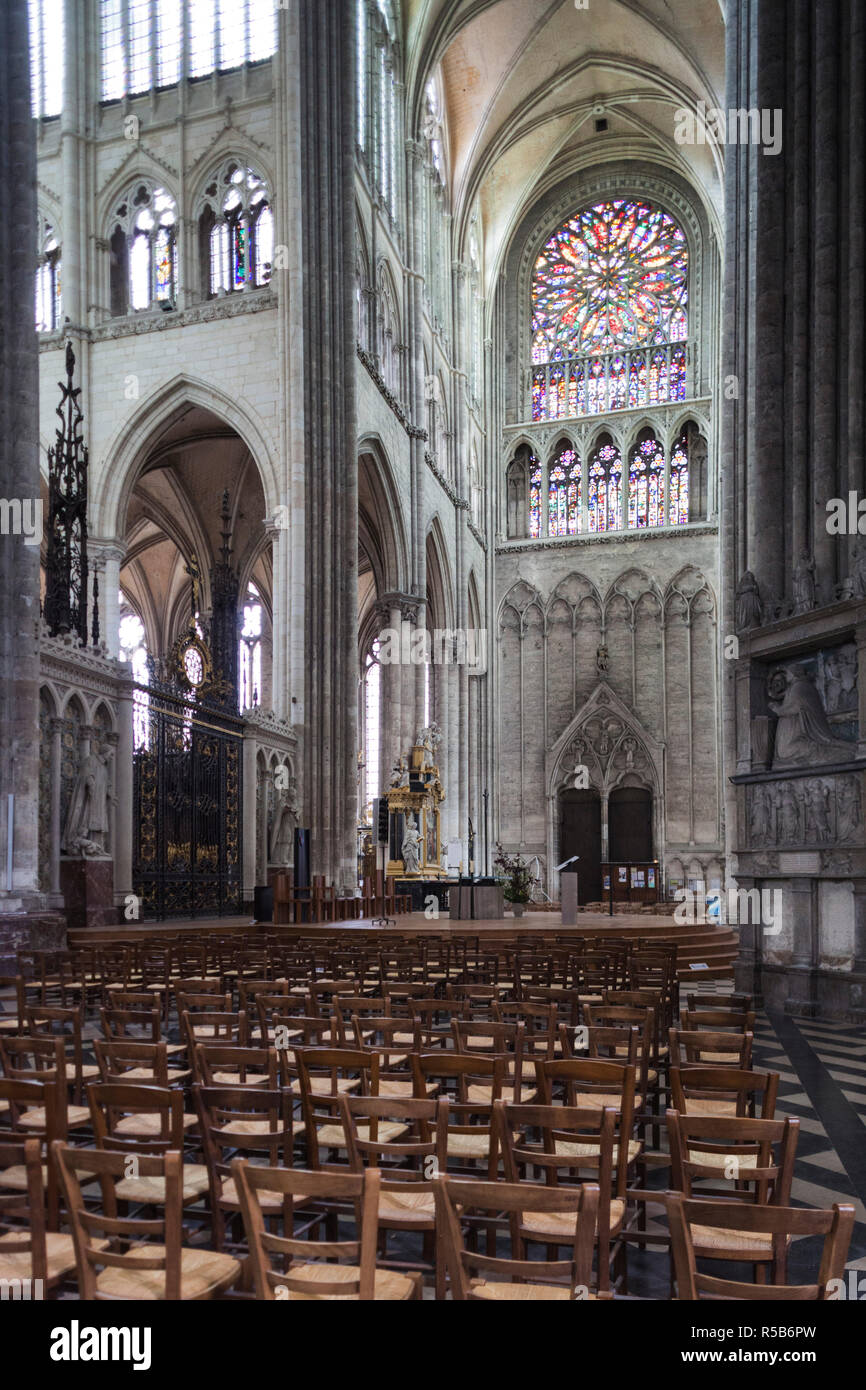 France, Picardy Region, Somme Department, Amiens, Cathedrale Notre Dame cathedral Stock Photo