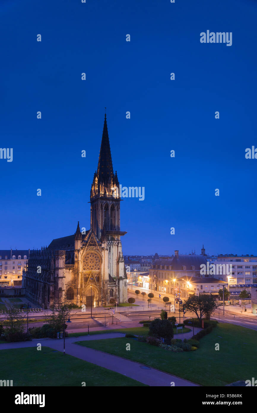 France, Normandy Region, Calvados Department, Caen, Place St-Pierre, Eglise St-Pierre church - Stock Image