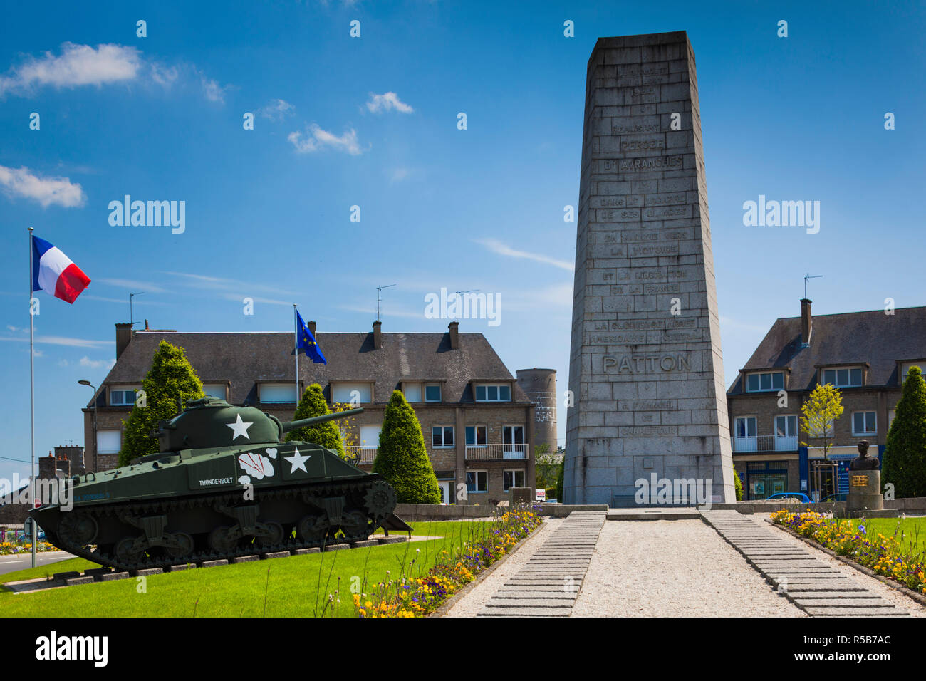 Memorial To The Us Army 4th Armored Division Stock Photos