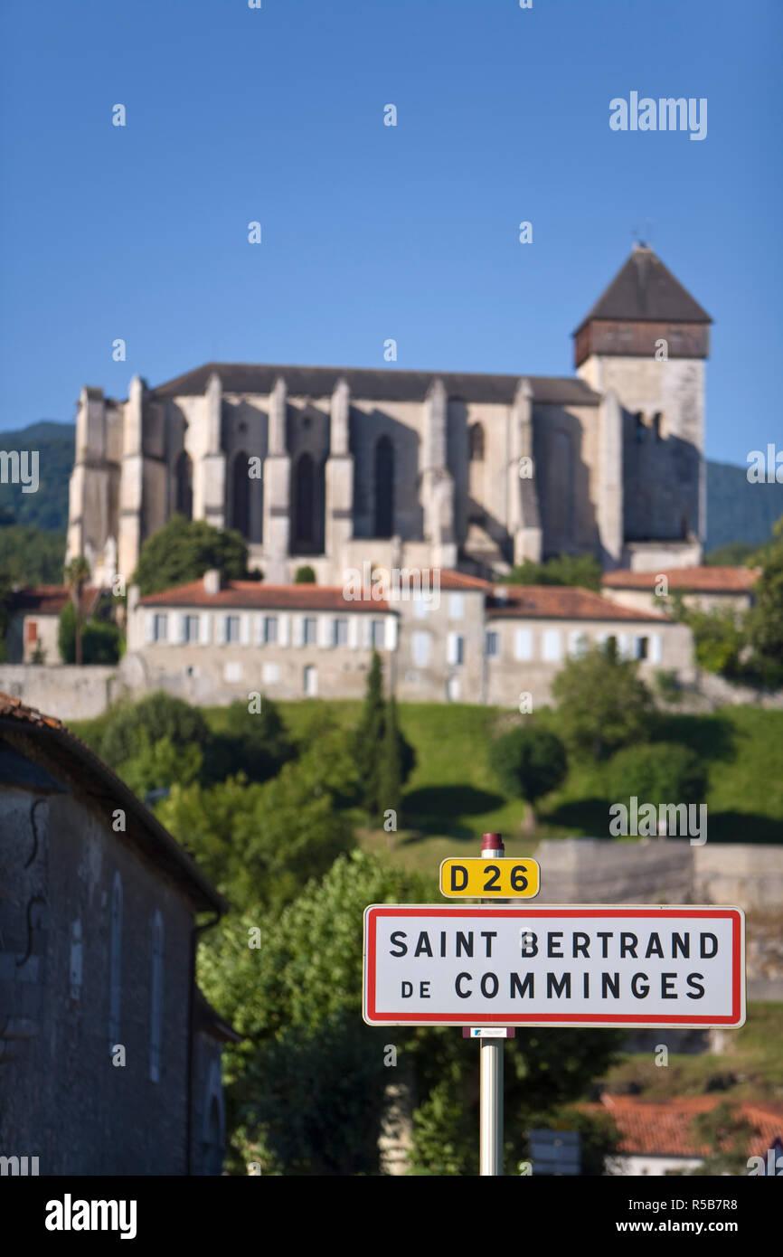 St Bertrand De Comminges, Haute-Garonne, Pyrenees, France - Stock Image
